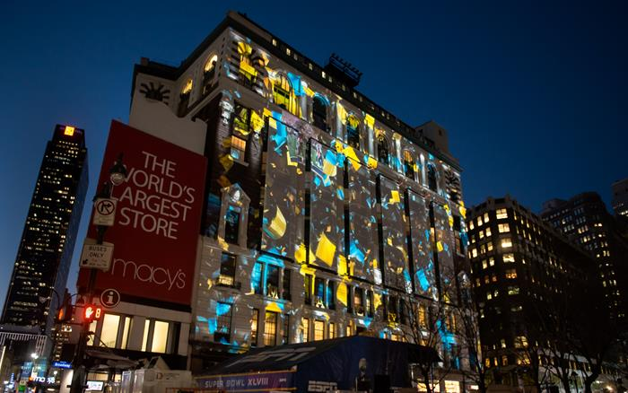 Macy's 2014 Super Bowl Projection Mapping