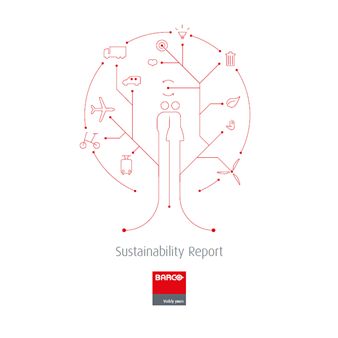 Cover Barco's 1st sustainability report