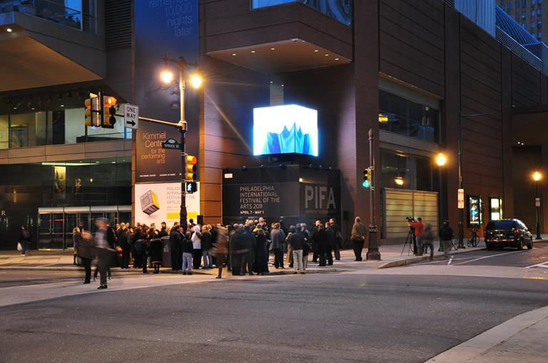 <P>Kimmel Center showcases entertainment with digital cube</P>