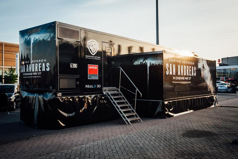 Warner Bros mobile cinema