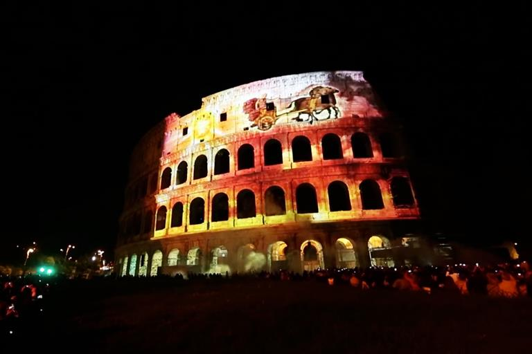 The night Rome's famous Colosseum became a giant canvas