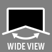 ultra-wide viewing angle: clearly visible image from nearly all angles