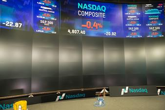 Nasdaq Barco video wall