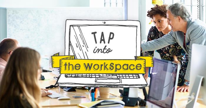 your work desk is now wherever your laptop is barco