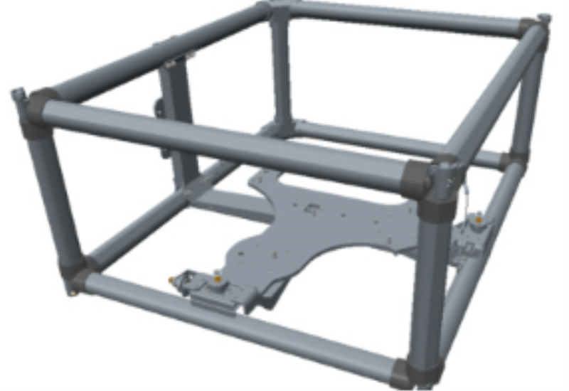 Frame for UDX laser projectors