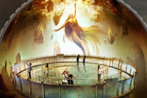 Giant 720 -degree dome screen – using Barco HDF projectors – breathe life into ancient Chinese myth