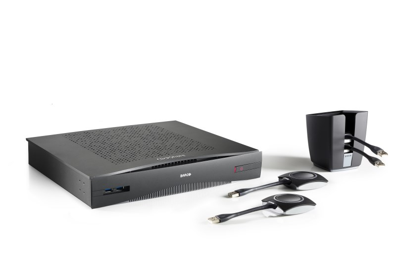 Wireless presentation and collaboration system for boardrooms and conference rooms
